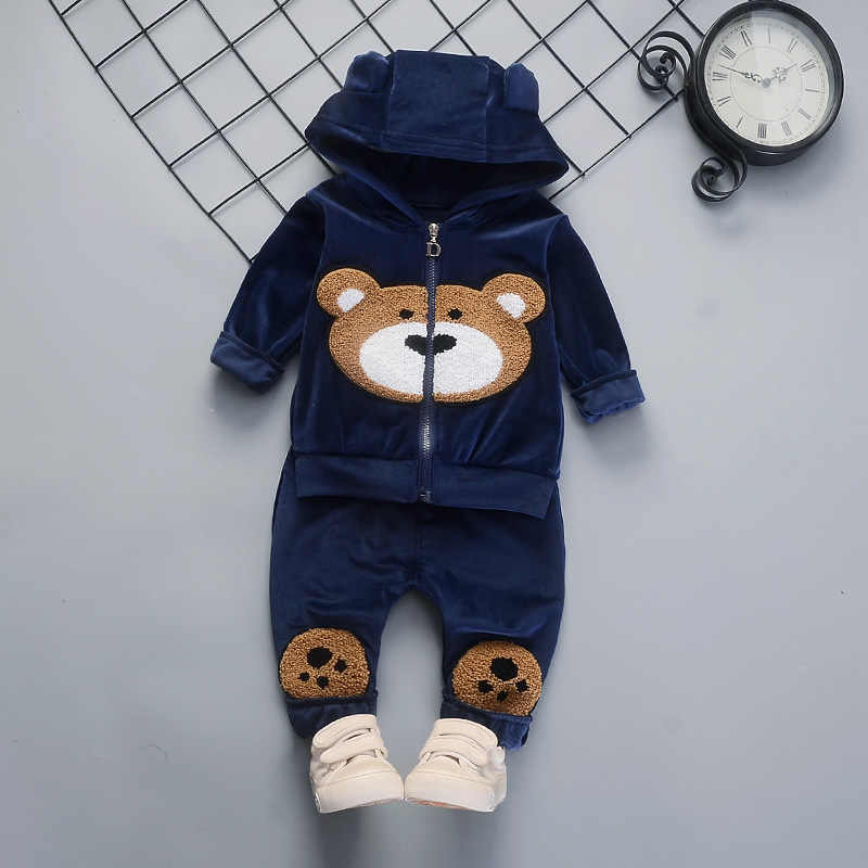 Children clothing sets spring autumn boys girls casual cotton cartoon hoodies coats+pants 2pcs suits for kids tracksuits outfits