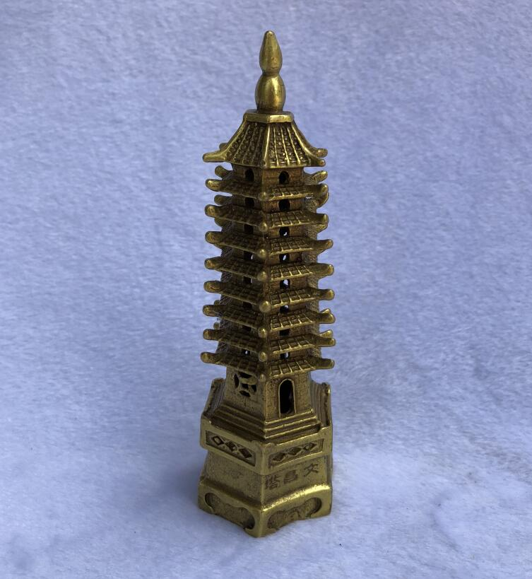 Antique Brass Collection Bronze Ornament Decoration Antique Pagoda