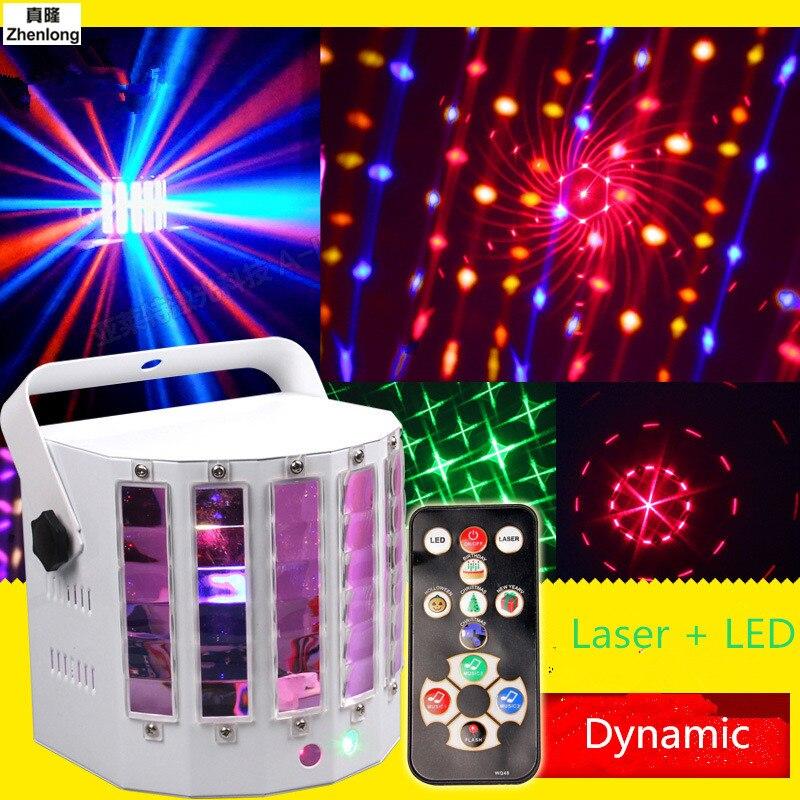 9 LED Mini scène papillon LED lumières de scène Portable rvb son DJ lumière fête lumières DMX512 contrôle noël Laser projecteur