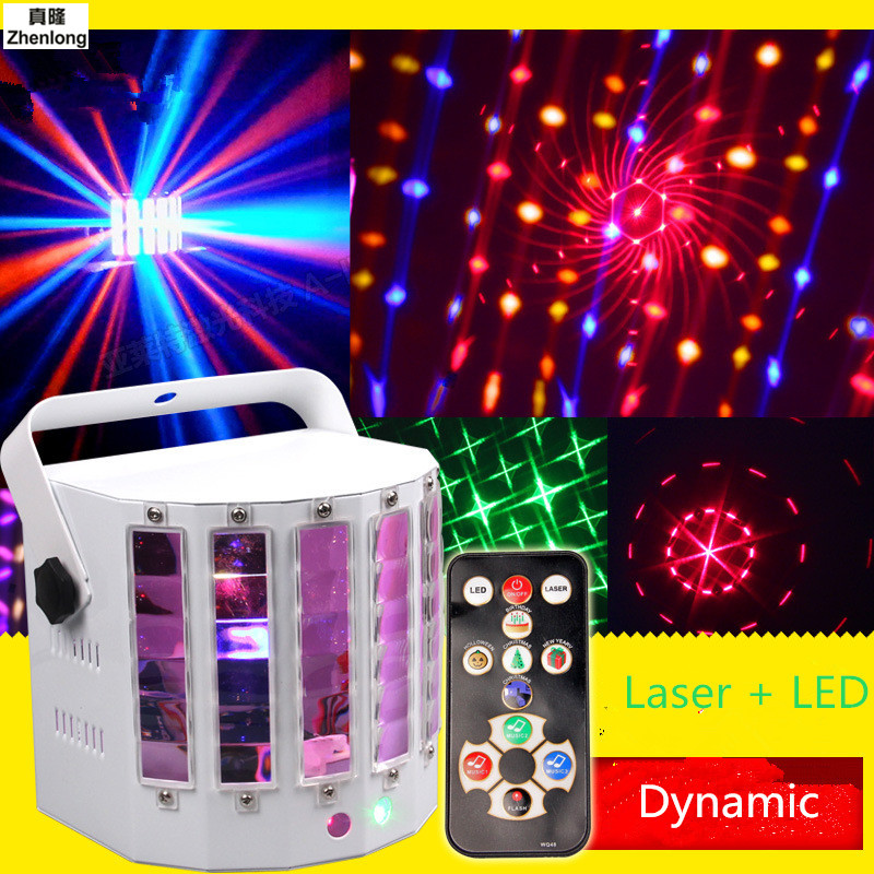 9 LED Mini Butterfly Stage Led Stage Lights Portable RGB Sound DJ Light Party Lights DMX512 Control Christmas Laser Projector