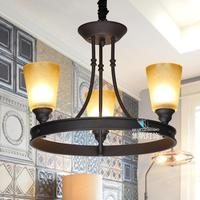 American Rural French Speakers Contracted North Jane Chandelier Lamp European Study Lamp Light In The Bedroom