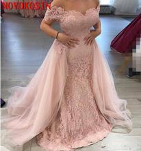 Женское вечернее платье с открытыми плечами длинное кружевное