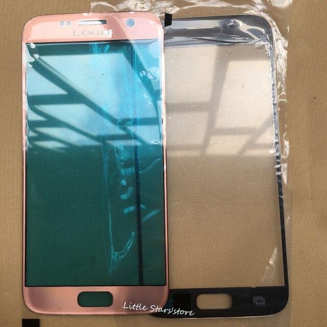 Оригинал Для Samsung Galaxy S7 G930 G930F G930A Серебро/Розовый розовое Золото/Черный/Золото/Белый ЖК Передняя Сенсорный Экран Стекла Внешний объектив