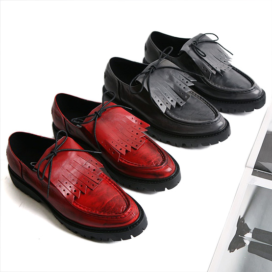 British style Men Flats Genuine leather Platform Brogue Shoes Breathable Fashion Male tassel shoes Spring Autumn 03 in Men 39 s Casual Shoes from Shoes