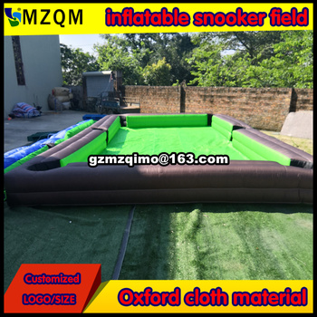 MZQM inflatable snooker field for outdoor or indoor / durable inflatable billiard board soccer court at sale / snooker pool