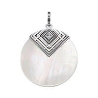 Ethnic Mother of Pearl Ornament Pendants For Women & Girl 2019 New 925 Sterling Silver Fashion Jewelry Gift Fit Necklaces Bijoux