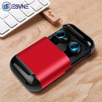 Esvne S7 TWS bluetooth earphone Earbuds Wireless Bluetooth headphone Stereo Headset Bluetooth Earphone With Mic and Charging Box