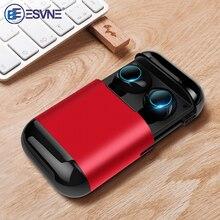 Esvne s7 tws bluetooth fones de ouvido sem fio bluetooth fone de ouvido estéreo fone de com microfone e caixa carregamento