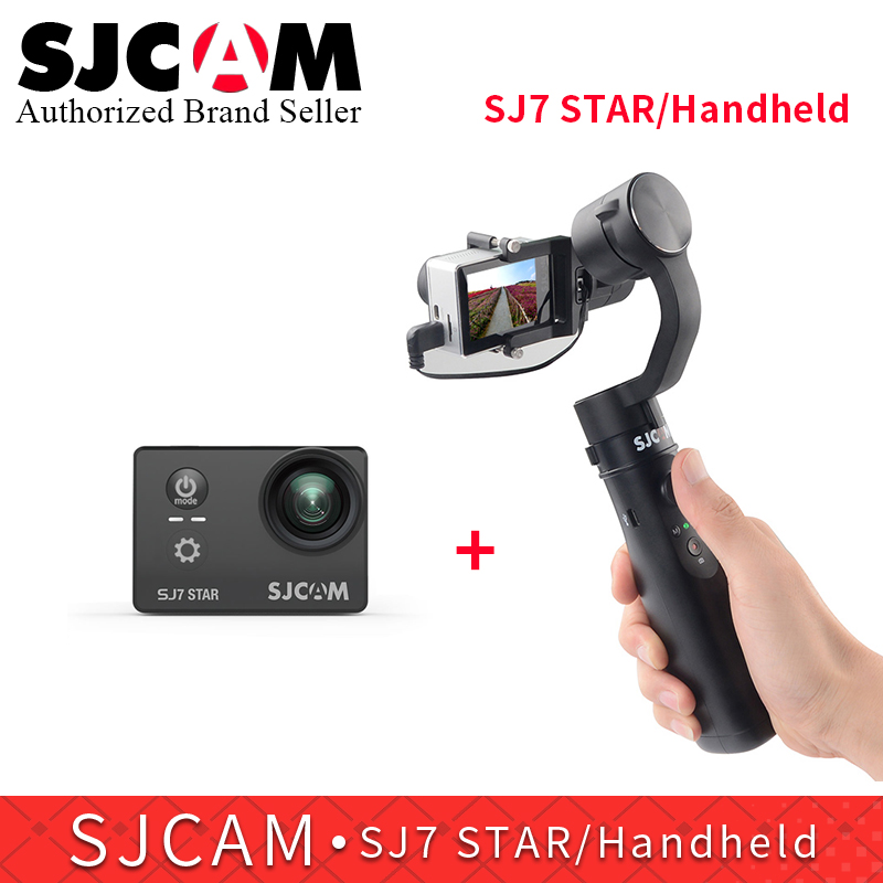 SJCAM 3 axis Handheld Stabilizer gimbal monopod for SJ6 Legend SJ7 star action camera match with SJ7 star 4K wifi sports camera car charger suction cup bracket for sjcam sj6 legend sj7 star car holder with charger for gitup git2 action camera accessories