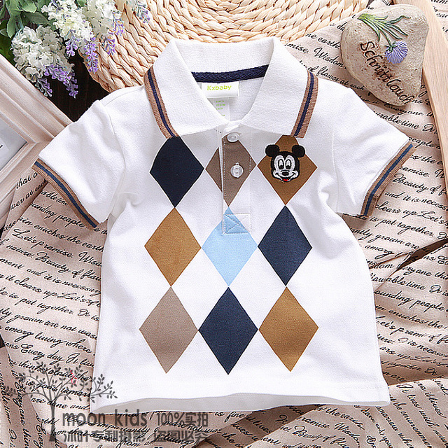 Free shipping 2017 summer  female child short-sleeve t-shirt,cotton short-sleeve cartoon  baby  shirt clothes