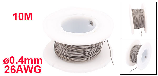 Uxcell Newest Titanium 10M/ 328ft 04mm Average Wire 26AWG Electric