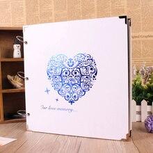 Neue 28*28 cm DIY 10 Stil fotoalbum 10 seiten papier große fotoalben sammelalbum für baby familie hochzeit speicher geschenk fotoalbum