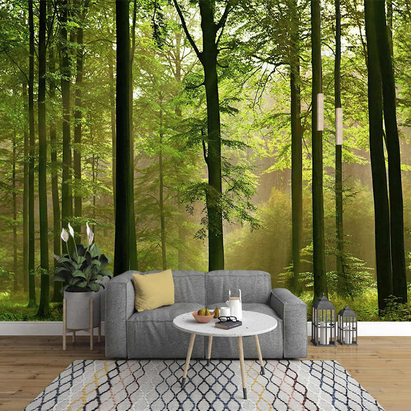 Amazing Custom 3d forest nature murals wallpapers for home and office walls