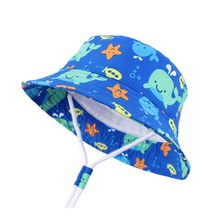 Adjustable Sun Hat Kids Bucket Hat Quick Dry Summer Fishing Cartoon Cap Boy Girl Panama Children Hat Infant Beach hat Outdoors(China)
