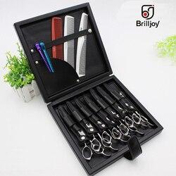 Brilljoy, bolsa para peluquero de piel sintética, tijeras profesionales para cortar el pelo, tijeras, peine, clip, bolsa, herramientas de peluquería, estuche organizador