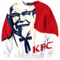 Hoodies Hip Hop Sweatshirt Brand New Fashion Funny KFC 3D Print Casual Long Sleeve Crewneck Sup Hoodie Men