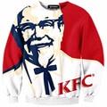 Hoodies Hip Hop Sweatshirt Brand New Fashion Funny KFC 3D Print Casual Long Sleeve Crewneck Sup Hoodie Men