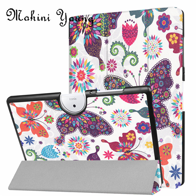 (1pc)New top quality Slim Case 10 B3-A40 Stand Cover For Acer Iconia One 10 B3 A40 10.1 inch tablet cases tree owl girl design