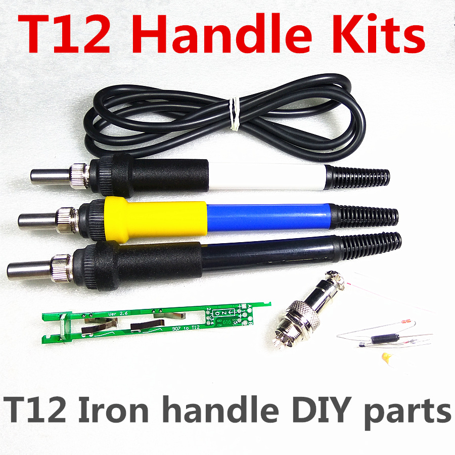 QUICKO T12 Handle DIY Kits STC-LED OLED T12 Soldering Iron Handle Spare Parts 907 Modified To T12 Welding Tool Accessories