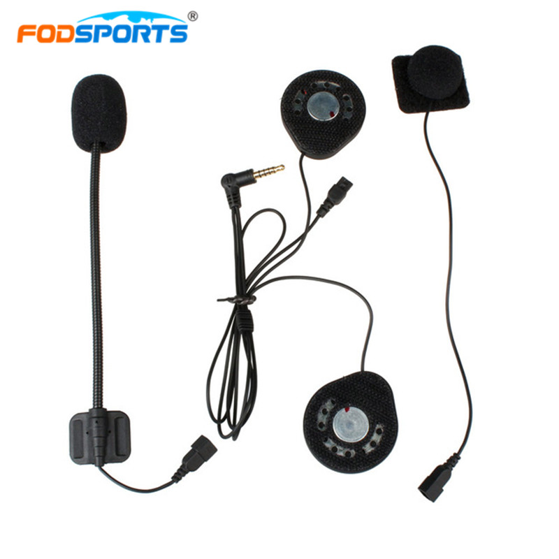 Fodsports T9S Intercom <font><b>Headphone</b></font> Motorcycle <font><b>bluetooth</b></font> Helmet Headsets Earphone Helmet Intercom Earpieces Stereo Music image
