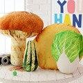 3D Растительного Гриб Капуста Огурцы Картофель Подушку Чучела Плюшевые Подушки Подушки Мило Снятие Стресса Игрушки Подарок