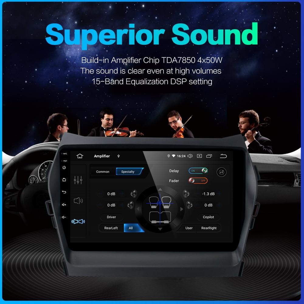 Excellent Dasaita Car Radio 1 Din Android 9.0  for Hyundai IX45 2013 2014 2015 Autoradio 64GB ROM MP3 HDMI Car Stereo 3