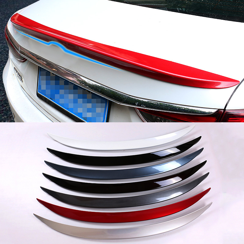 QCBXYYXH 1pc ABS Tail Rear Trunk Spoiler Wing Decoration Cove Car Accessories For Mazda 6 M6 ( Atenza ) 2014-2017 стоимость