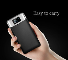 20000mah Power Bank External Battery Pack DualUSB Ports LCD Display Powerbank Portable Mobile Fast Charger for Phone