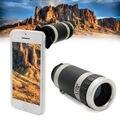 Para iphone 5c telescópio telefoto 8x zoom telefone lente da câmera com case capa