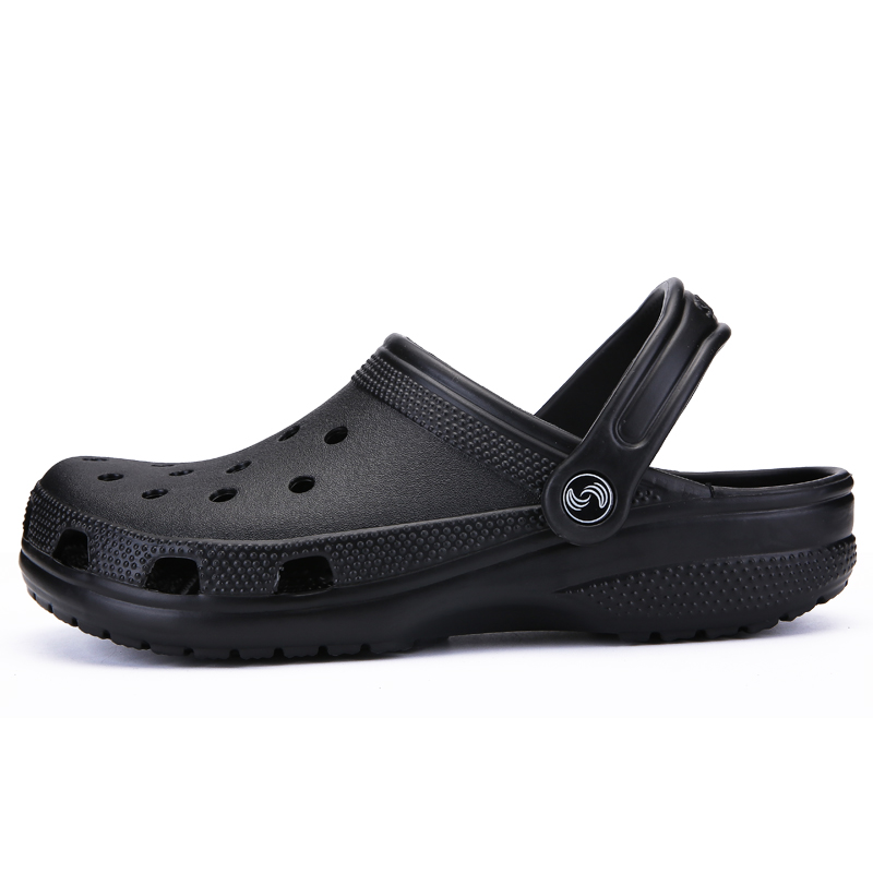 POLALI Brand Big Size 39-46 Croc Men Black Garden Casual Aqua Clogs Hot Male Band Sandals Summer Slides Beach Swimming Shoes(China)
