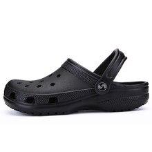 8e1bd35bb POLALI/Брендовые мужские черные повседневные туфли-сабо, большие размеры  39-46