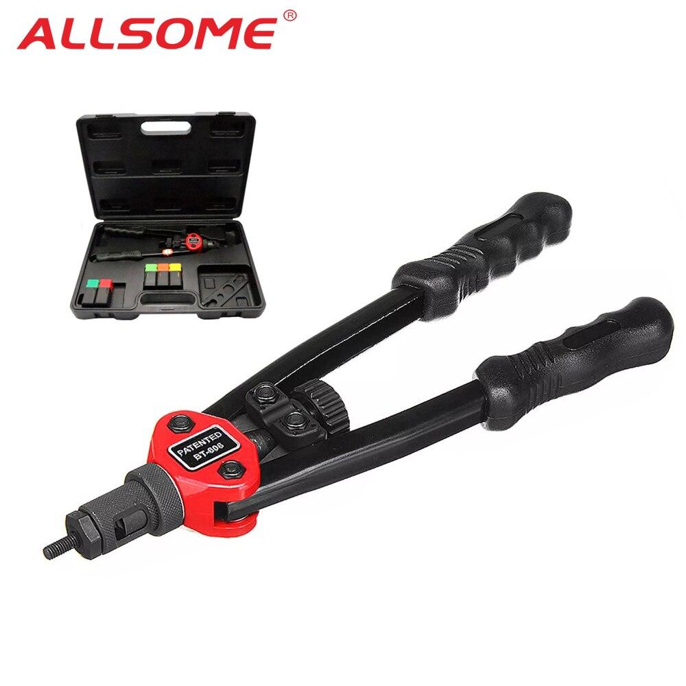 Allsome BT-605 arma ferramenta de rebite automático porca rebite cego arma pesada mão inser porca ferramenta manual mandrels m3 m4 m5 m6 m8 m10 BT-606