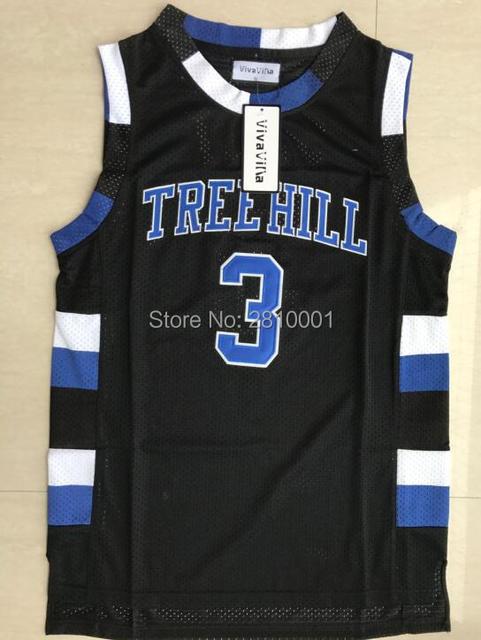 b05ca8342dd Stitched Basketball Jersey One Tree Hill Jersey 23 Nathan Scott 3 Lucas  Scott Ravens Movie Jerseys White Black Blue S-3xl
