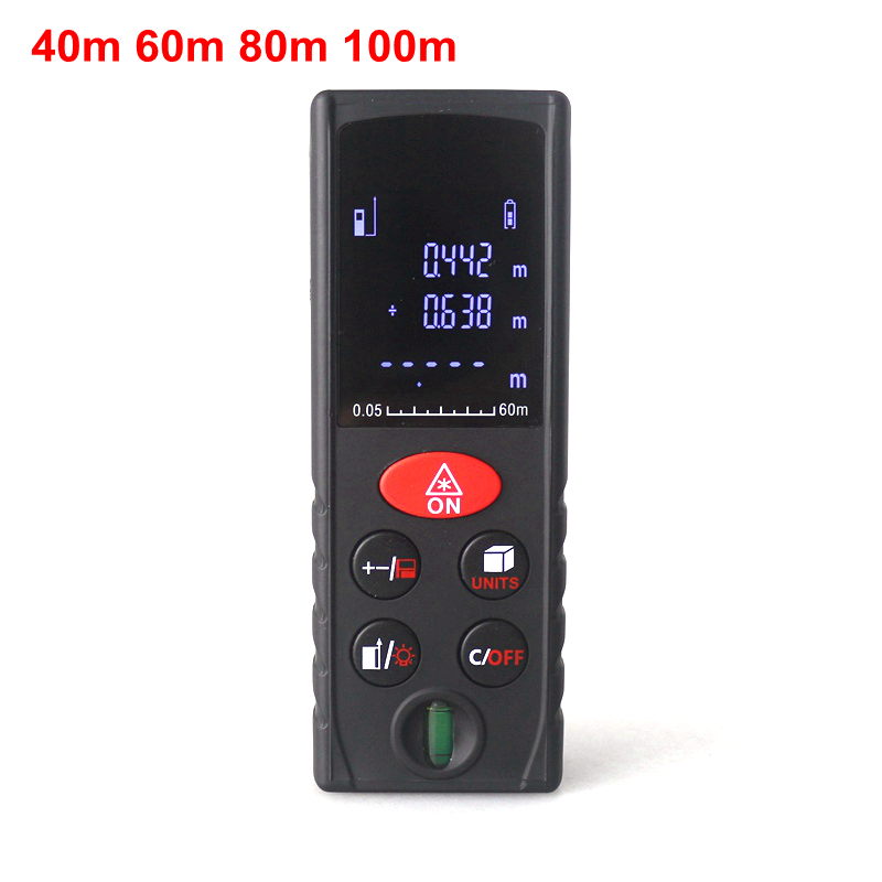 60m Digital Laser Distance Meter Rangefinder Range Finder Area Volume Measurer Tools Data Clearup Buzzer Indicator Handheld ювелирное изделие 85013