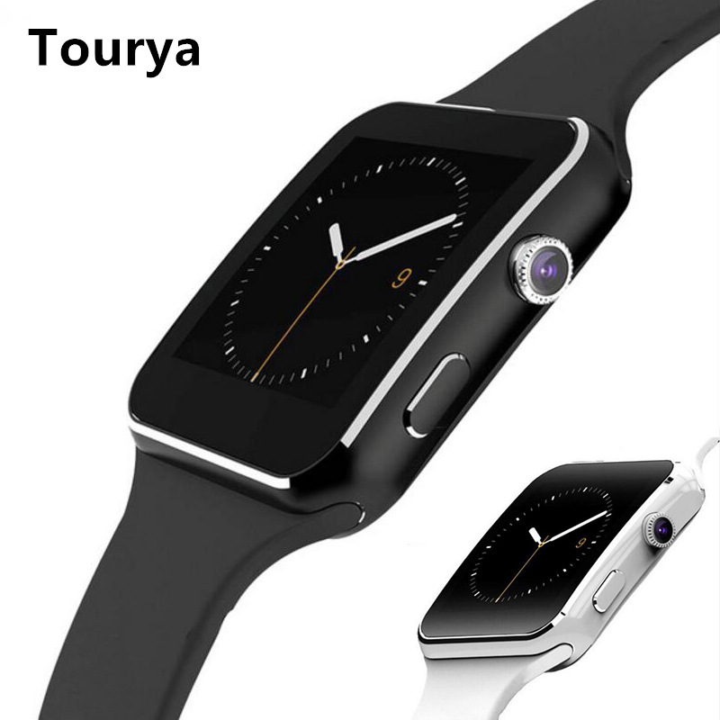 Tourya Bluetooth Smart Watch X6 Sport Passometer Smartwatch Android With Camera Support SIM Card Whatsapp Facebook For Phone