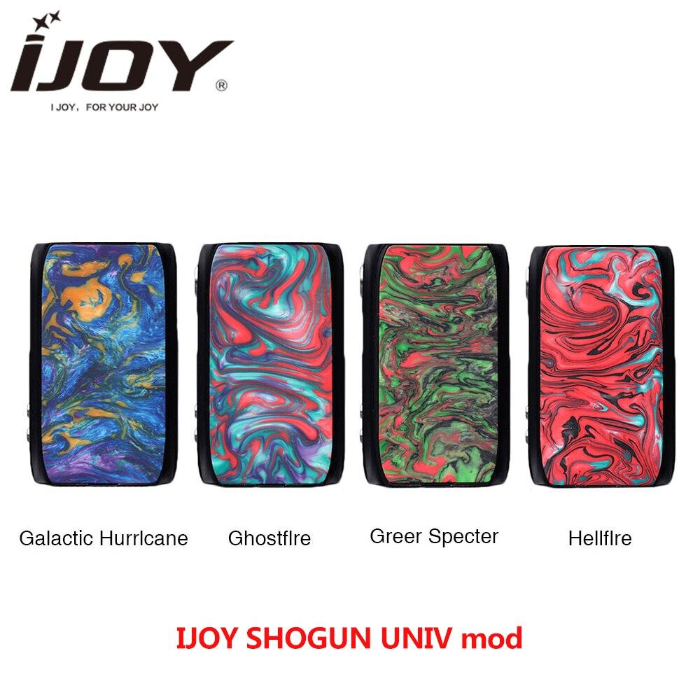 100% Original ijoy SHOGUN UNIV 180 w boîte mod pour KATANA SUBOHM réservoir vs glisser 2 mod Firmware mise à jour Vape E cigarette mod