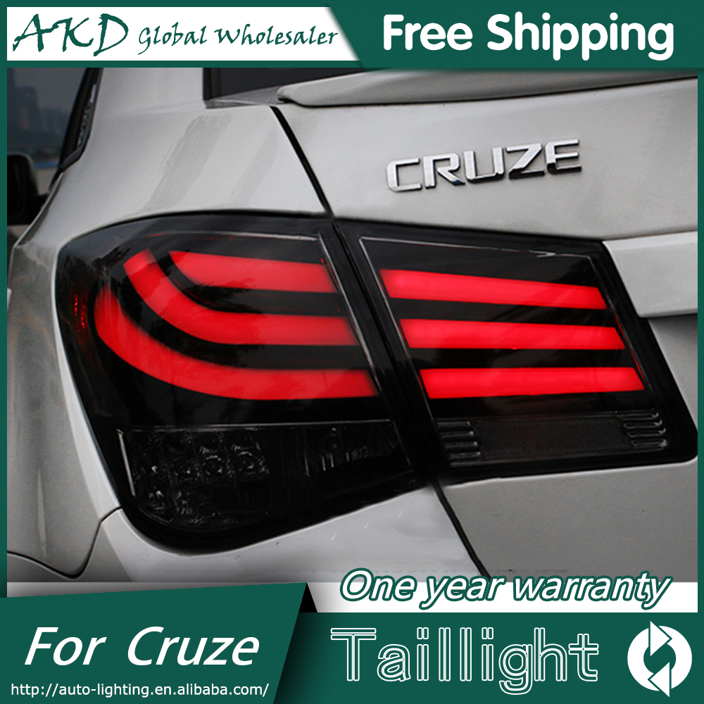 AKD Car Styling for Chevrolet Cruze Tail Lights 5-Series Design Cruze LED Tail Light Rear Lamp DRL+Brake+Park+Signal jgd brand new styling for mitsubishi pajero sport tail lights 2009 2015 led tail light rear lamp led drl singal car lights