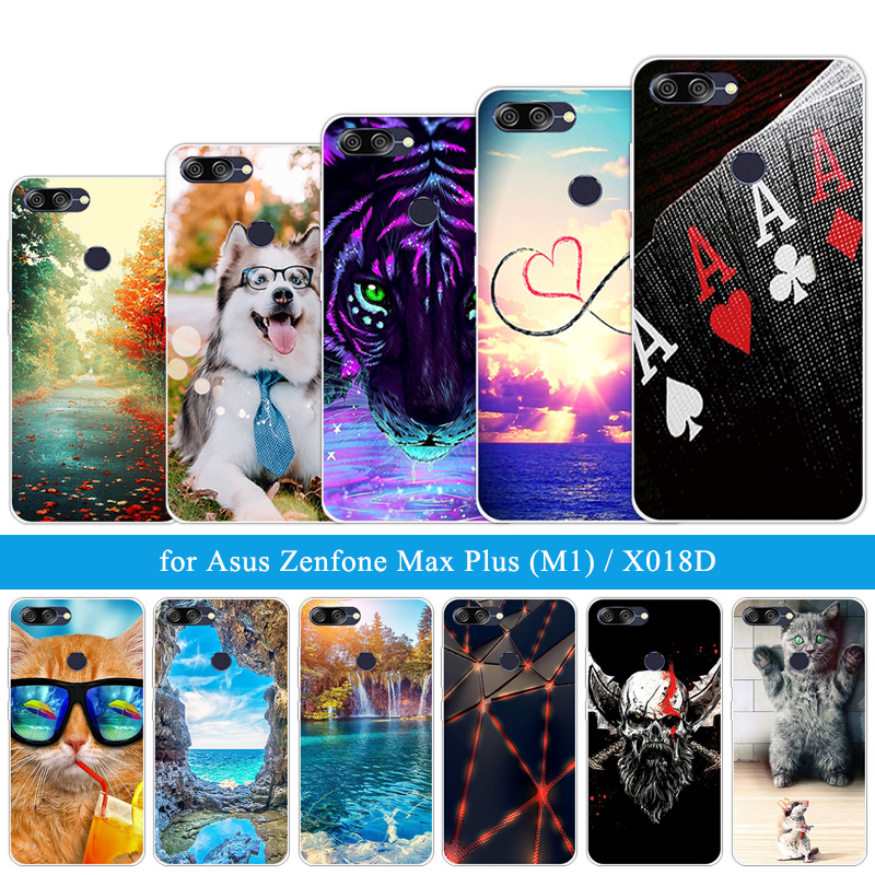 For Asus ZenFone Max Plus M1 ZB570TL Cases Siliocne 5.7 inch For Zenfone Max Plus M1 X018DC ZB570TL Soft TPU Land Shells