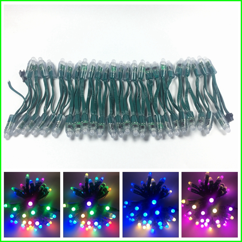 Lights & Lighting 500pcs Dc5v /dc12v 12mm Ws2811 Ic Led Module Black/green/white/rwb Wires String Christmas Led Pixel Light;addressable;waterproof Preventing Hairs From Graying And Helpful To Retain Complexion Led Lighting