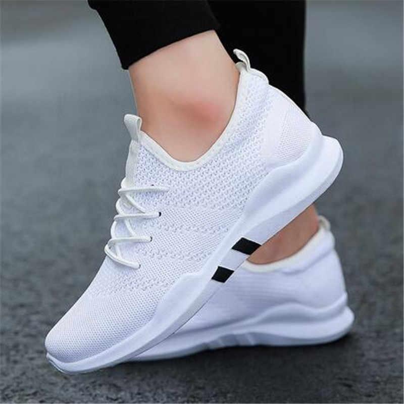 2018 حذاء رجالي أحذية خفيفة الوزن تنفس الانزلاق على حذاء كاجوال للكبار موضة الأحذية Zapatillas Hombre أسود size39-44