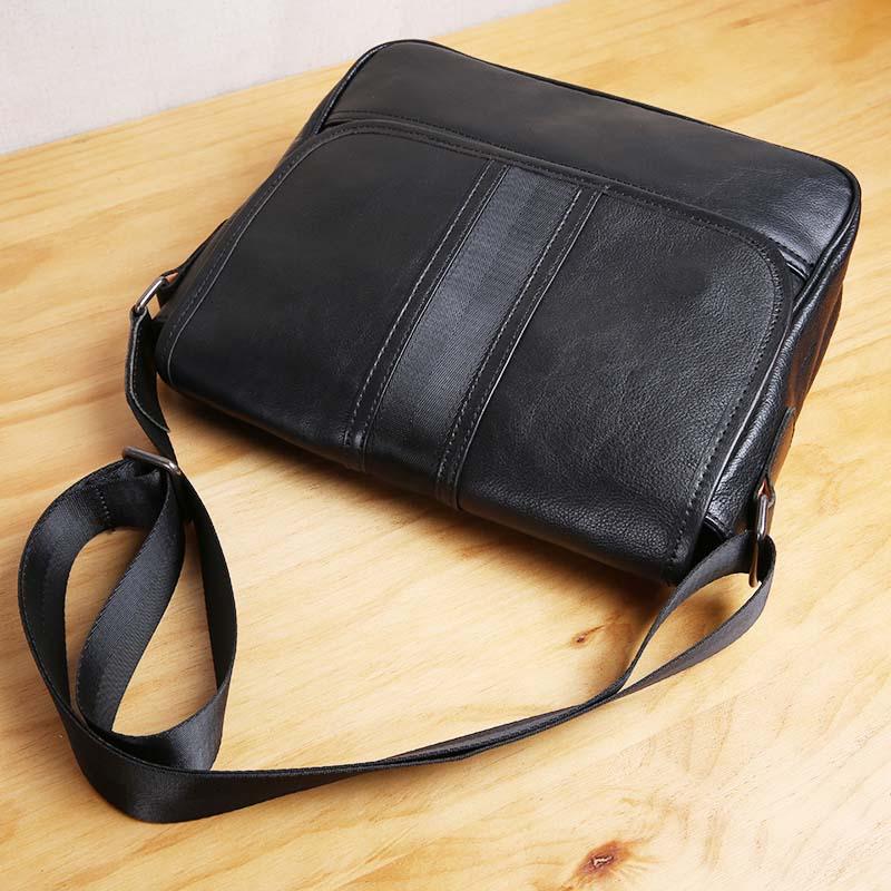 AETOO Pure handmade suede leather casual leather retro shoulder slung men's bag