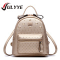 Fashion Rivet Backpack 2016 Newest Cool Leather Shoulder Bag High Qulaity Female Bag Backpack For Teenagers School Bag Backpack
