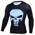 2016 the latest compression long-sleeved shirt men punisher skull...