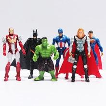 New Arrival Superheroes The Batman Spider man Iron Man Hulk Thor Captain America Joint Moveable PVC
