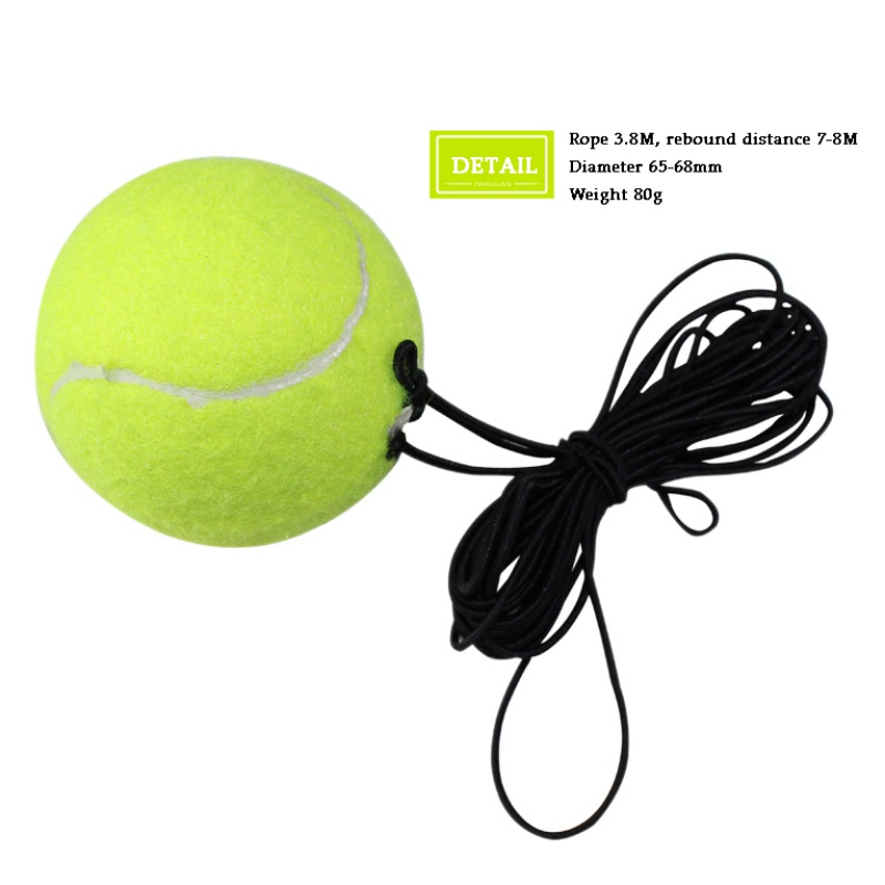 Tennis Training Ball With Rubber Band For Training Beginner Tennis Ball Elastic Rubber Band Ball  Tennis Training