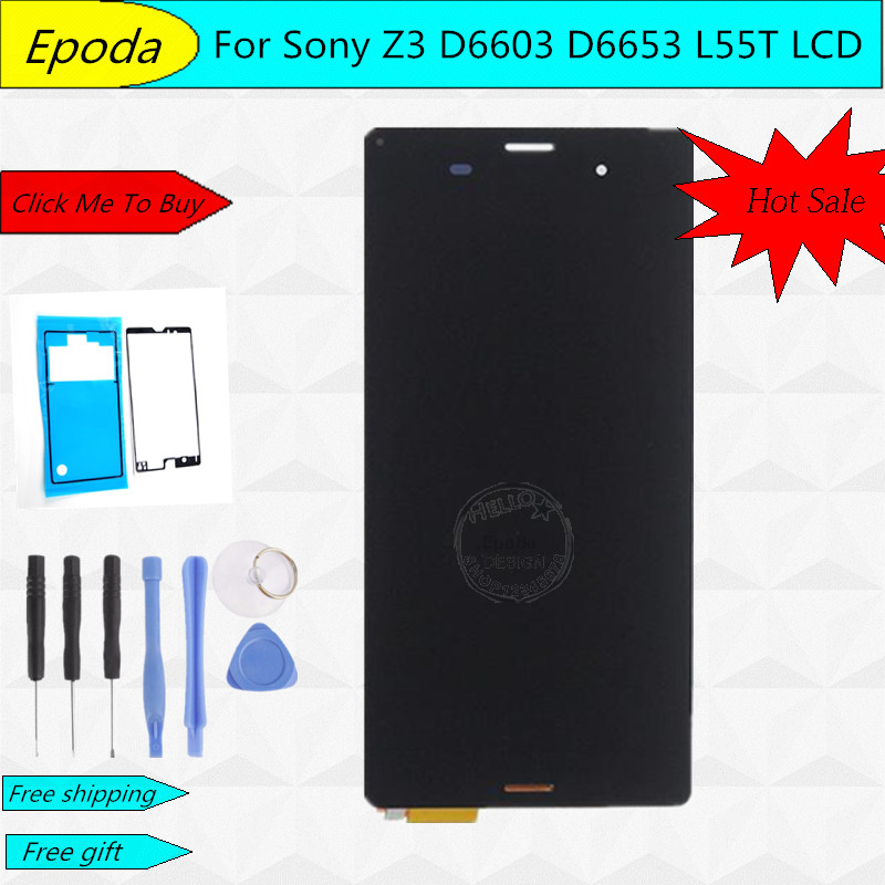 5.0 Or 5.2 Inch For Sony Xperia Z3 D6603 D6643 D6653 L55t LCD Display Touch Screen With Digitizer Assembly+ Adhesive+Tools