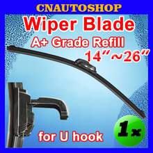 "Auto Frameless Wiper Blade Bracketless Natural Rubber Car Windshield Size 14"" 16"" 17"" 18"" 19"" 20"" 21"" 22"" 24"" 26"""