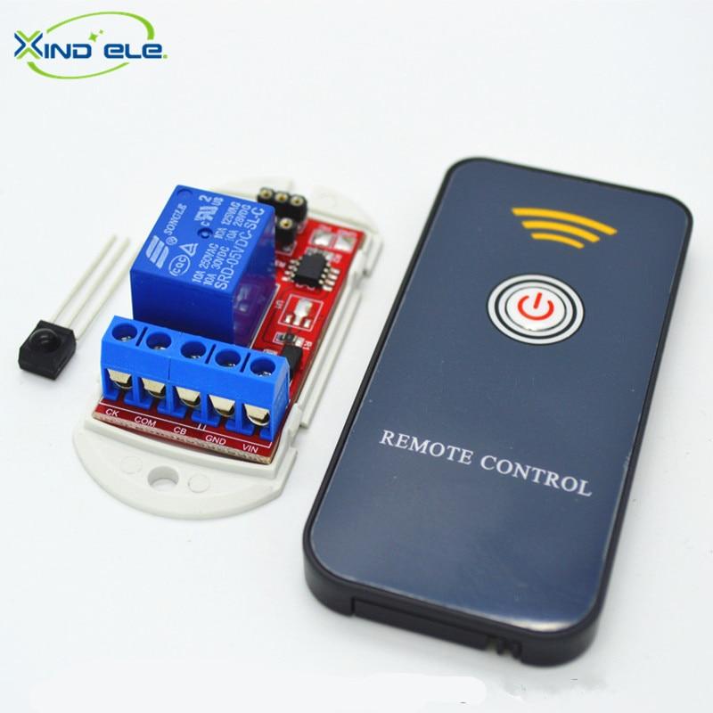 цена на XIND ELE 1 CH 5V DC IR Self-lock Remote Switch + Signal Reciever + Transmitter For Light Garage Door #IR05-1SSM+PM1#