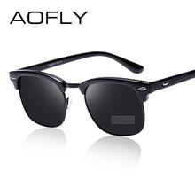 1de4a42472f1 AOFLY Klassischen Halb Metall Polarisierte Sonnenbrille Männer Frauen Marke  Designer Gläser Spiegel Sonnenbrille Mode Gafas Ocul.