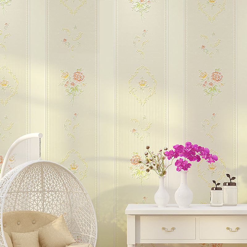 Modern Europe Fashion Rustic Wallpaper Floral Vertical Stripe Non-woven Wallpaper for Walls 3 D Striped Wallpapers papel contact beibehang modern luxury circle design wallpaper 3d stereoscopic mural wallpapers non woven home decor wallpapers flocking wa